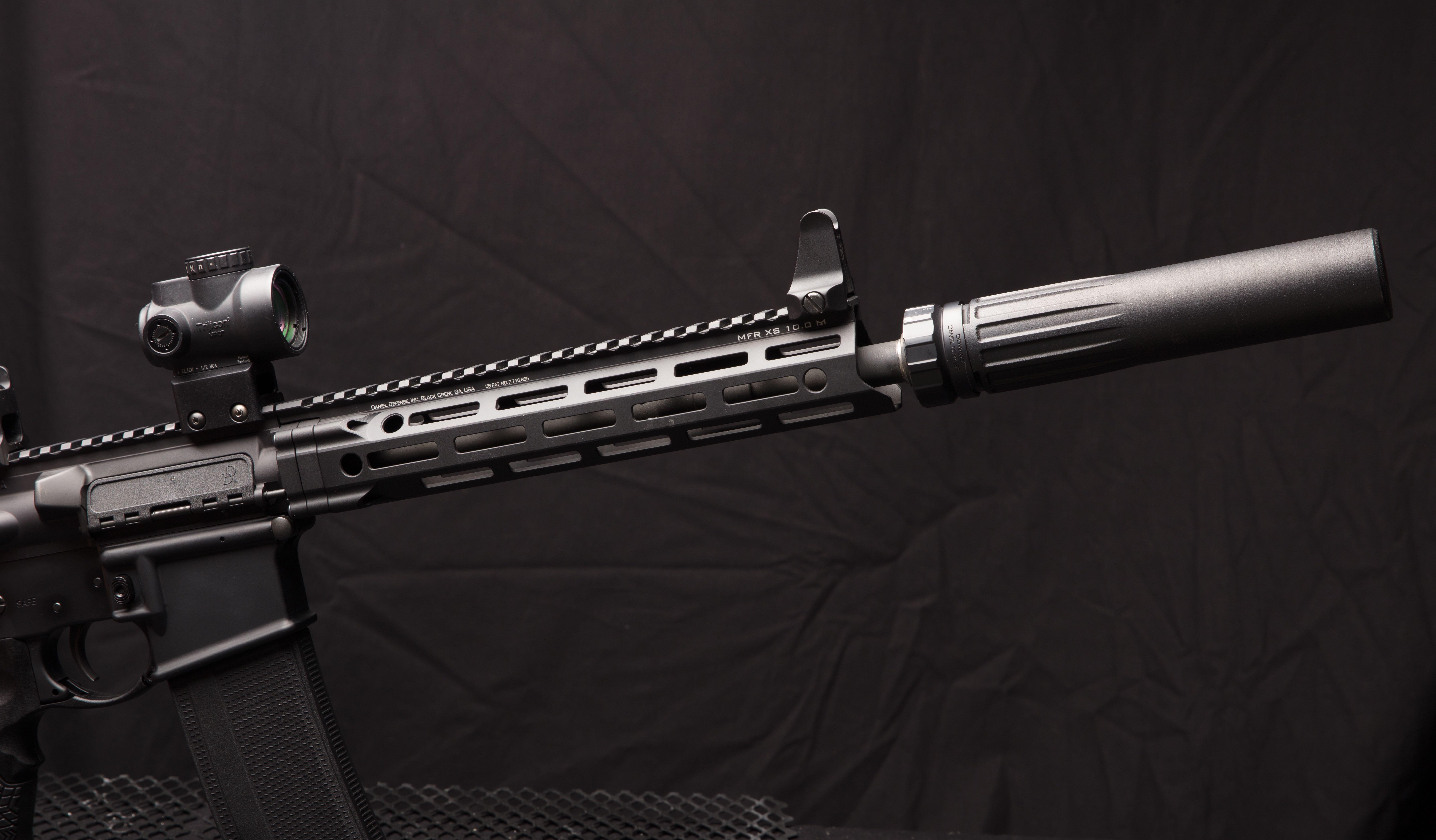 Sound Wave From Gun Silencer: Short Barrel, Big Performance: Daniel Defense DDM4V7S And