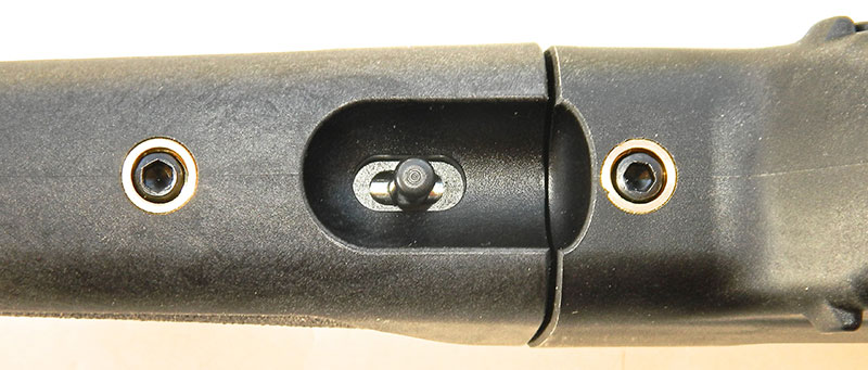 Takedown lever is recessed in forend.