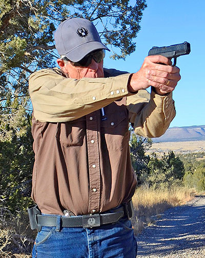 Hansen fires Ruger Security-9 at Gunsite. He found it accurate and easy to shoot.
