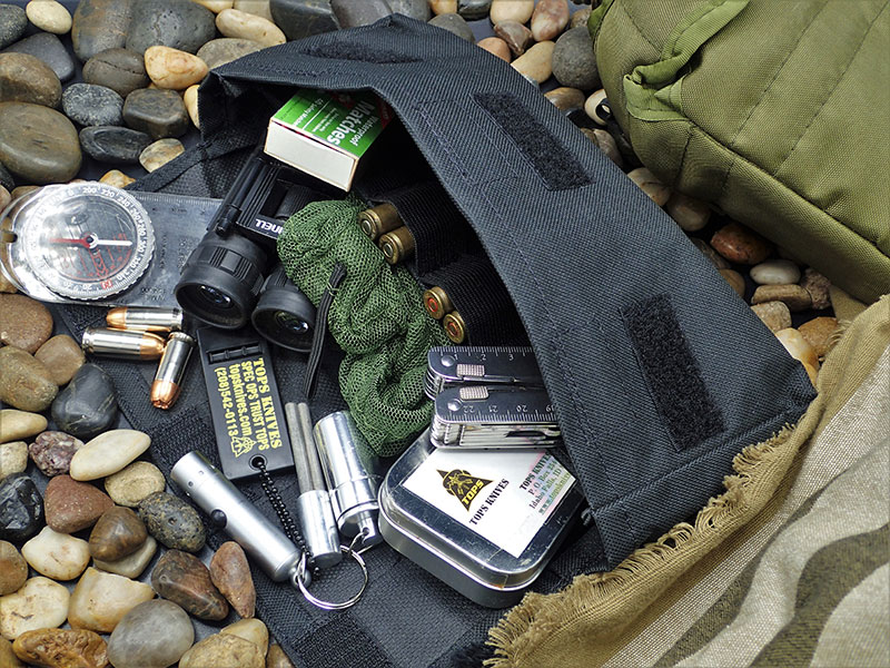 BOB is ideal for all types of kits for urban or wilderness needs. Black ballistic nylon is tough and versatile.