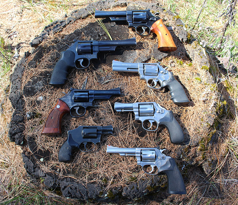 Revolvers come in small to large sizes.