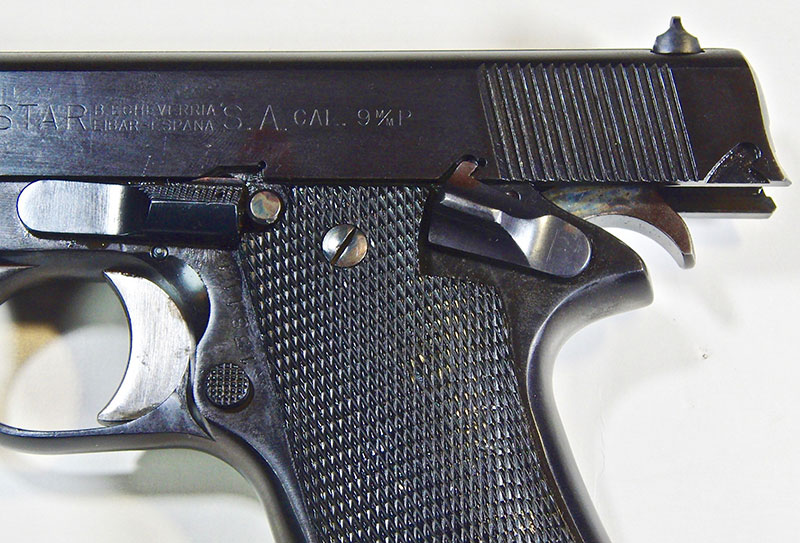 Aid to disassembly is takedown notch in the slide, into which the safety goes to hold open the slide for removal of the slide release/takedown lever. This has also always been a useful feature on the Browning Hi Power.