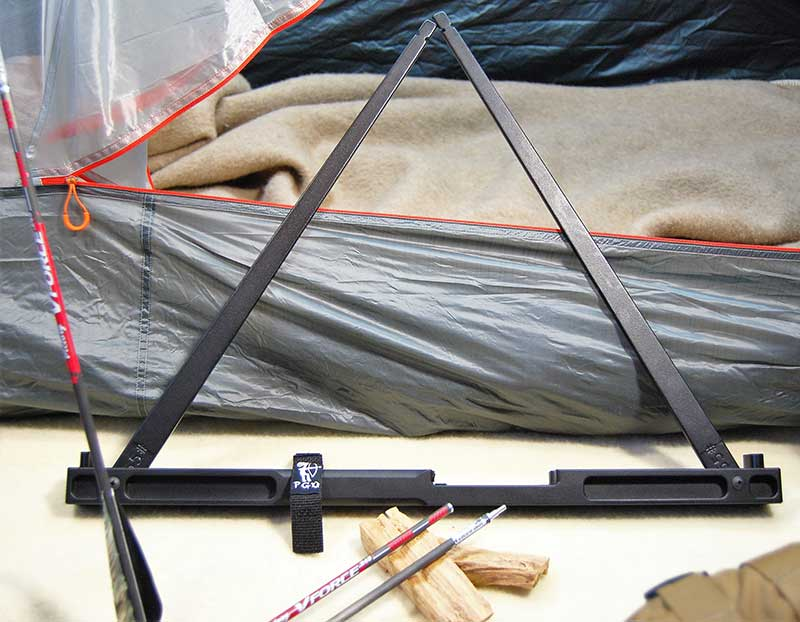Each limb folds comfortably into the riser for storage. This can save a lot of space in a campsite, as the bow can be kept inside a tent.