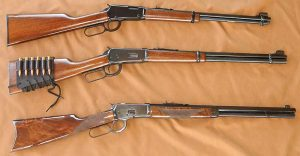Top to bottom: Henry Classic, .22; Winchester Model 1894, .30-30; Navy Arms Winchester Model 1892, .45 Colt.