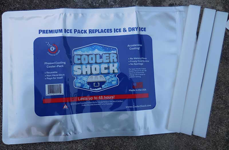 Cooler Shock has updated and improved their packs with five thicker, stronger layers that form a durable, flexible 7.5-mil thick foil and nylon pack.