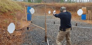 A great method for building situational awareness is to shoot courses of fire that not only force the shooter to look around to see all threats, but also force him to move to different points to engage them all.