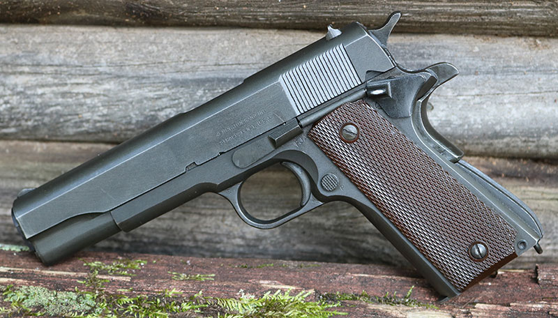 Remington Rand GI 1911A1 rolled off the lines in 1944 and is in pristine condition. Sporting its original Du-Lite finish and no extra frills, this was the gun our forebears used to free a world enslaved.
