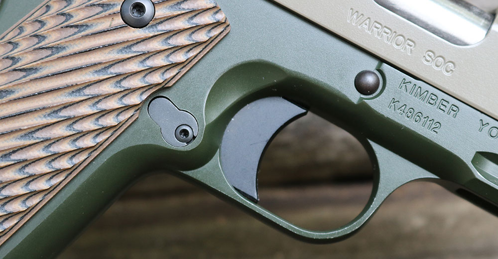 Extended trigger of Kimber Warrior SOC TFS fit author perfectly.