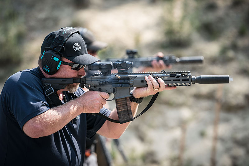 Training at SIG Sauer Academy with MCX Virtus.