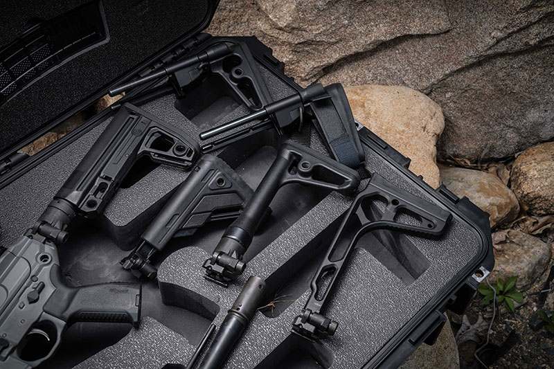 SIG Sauer buttstock options available for MCX Virtus.