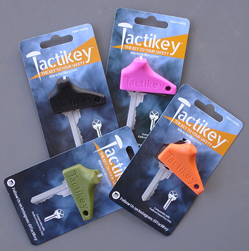 Tactikey is available in Blaze Orange, Carbon Black, O.D. Green, and Ultra Violet.