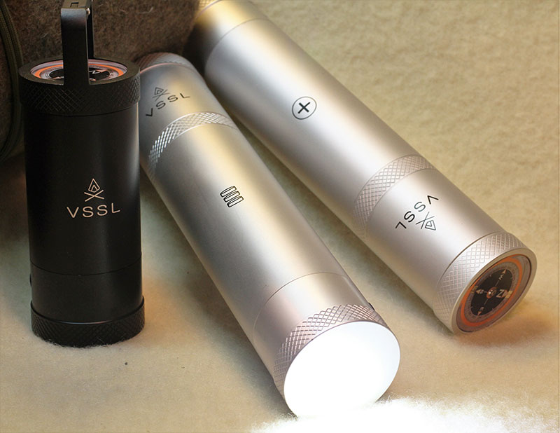 Most common sizes of VSSL containers are standard 9x2 and smaller Cache, which stands at 6x2. Each contains a flashlight and compass.