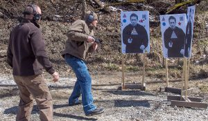 Get practice in non-static shooting, such as in this FPF Training class with John Murphy.