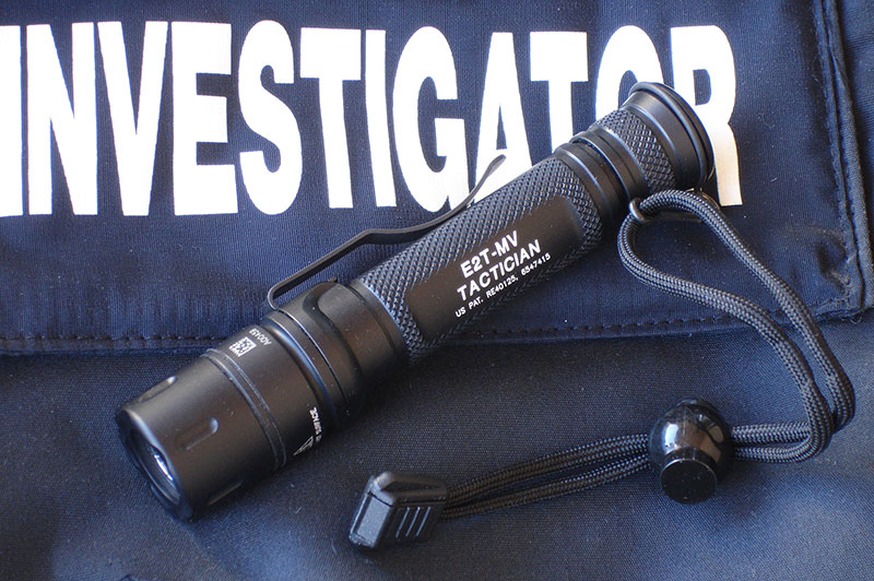 SureFire Tactician Dual-Output MaxVision Beam LED flashlight is a highly versatile everyday carry flashlight that serves as both a fighting light and a task light.