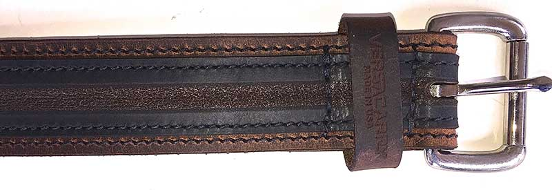 Versacarry Underground Series belt has distinctive striped pattern.