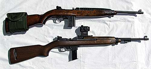 Chiappa M1-9 with Truglo Tru-Tec mounted and author's original Inland M1 Carbine.