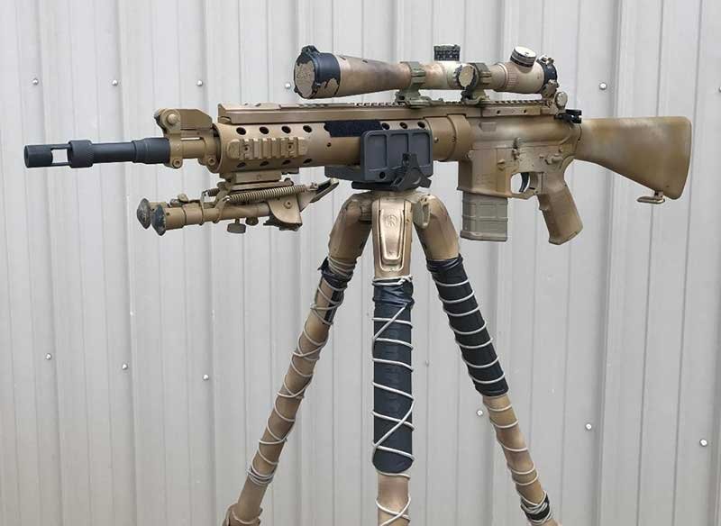 MK12 MOD 0 SPR was originally issued to SOF around 2000 and discontinued in 2010. This exceptional build is a clone.