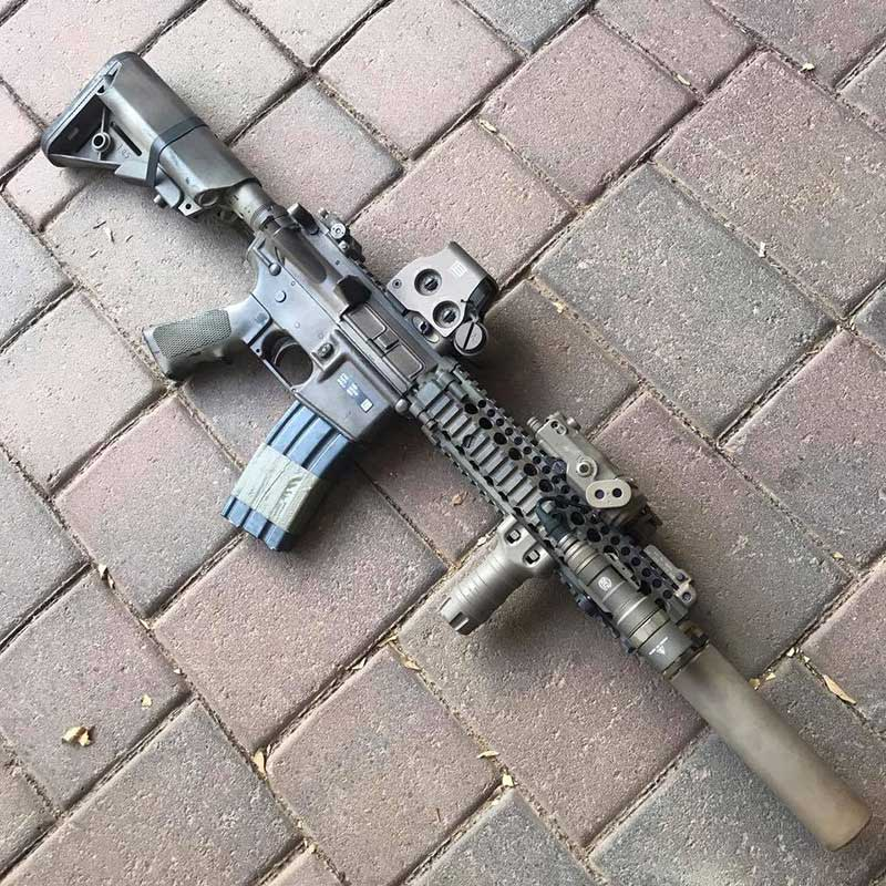 … short-barreled rifle made out to match current-issue MK18.