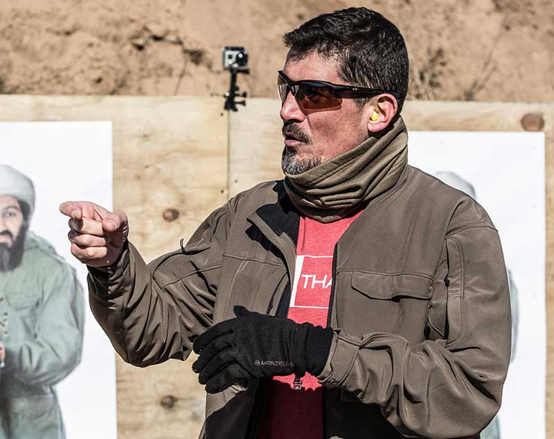 Paronto demonstrates proper trigger press.