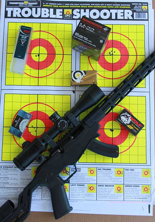 Accuracy was impressive with Ruger Precision Rimfire. Certain loads produced sub 3/8-inch groups. Significantly, point of impact was similar enough that loads could be used interchangeably.