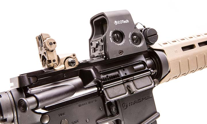 With no covers to remove on controls, EOTech sights are easy to zero.