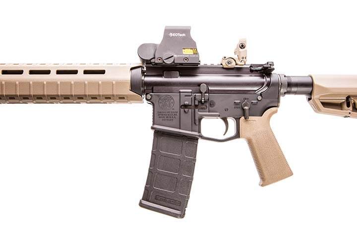 Left side of receiver has Smith & Wesson logo.