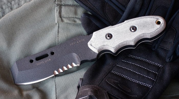 TOPS Mini Pry Knife was designed at the request of law enforcement officers who needed a compact, easily carried, low-profile breaching tool.