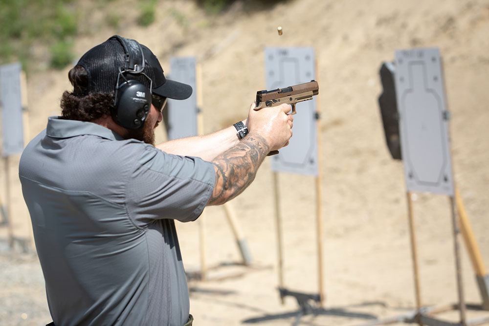 SIG Academy instructor puts P320-M17 through its paces.
