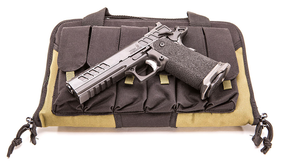 Atlas Tactical Operator comes with padded case with exterior pockets for six extra magazines.