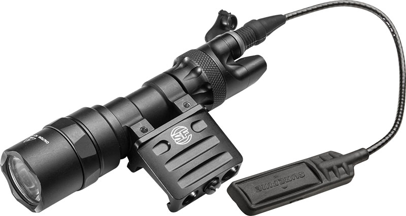 SureFire M312 Mini Scout Light combines 300-lumen 3-Volt Mini Scout Light with SureFire DS07 Switch Assembly and RM45 Off-Set Rail Mount.