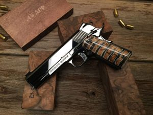 Deluxe-grade Cabot, with their highest level of hand-polished finish and ancient mammoth-tooth grips. Cost is approximately $12,000.
