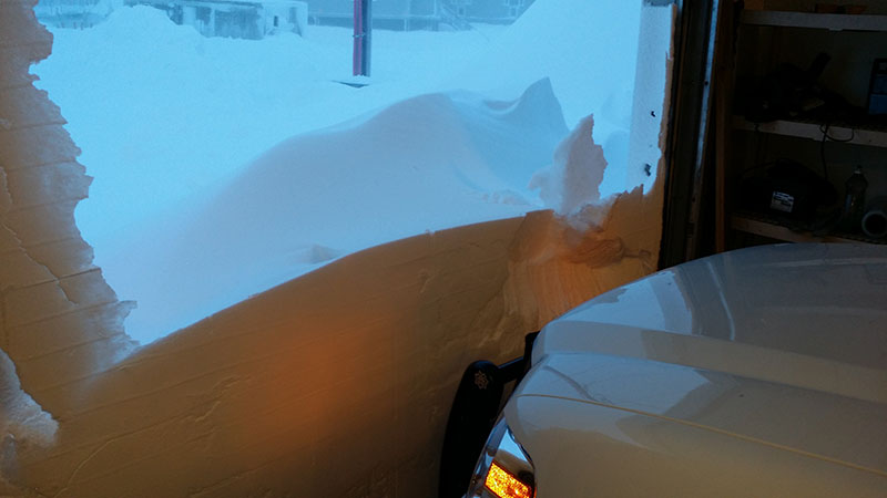 You might need to shovel a little snow to get the patrol truck out for the call.