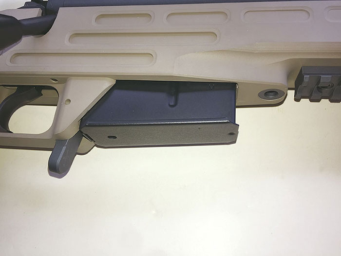 Kimber AT SOC II uses proven AICS-type five-round magazine.