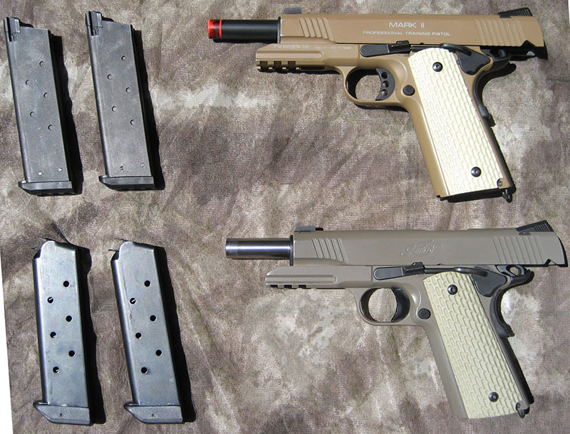 Airsoft replicas make good training tools due to their detail and authenticity.