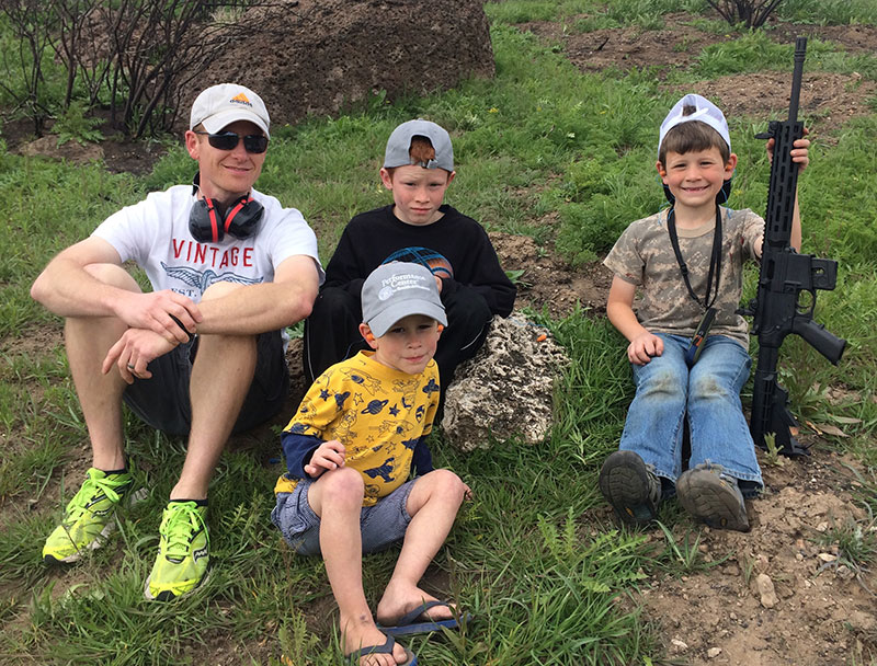 Family of shooters enjoy learning safe, responsible use of firearms during family outing.
