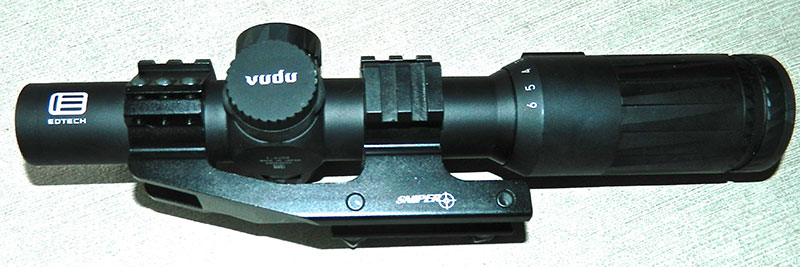 EOTech Vudu 1-6X Precision Rifle Scope was used to evaluate AR500.