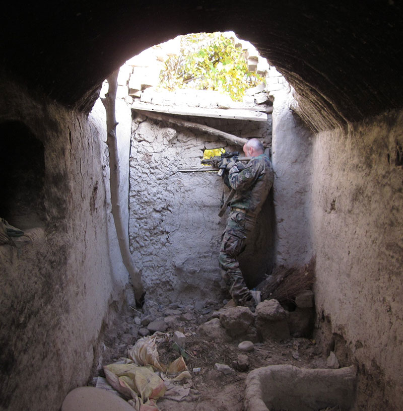 One of the most dangerous places in Afghanistan: Sangin, Helmand province. In this situation, waiting on the enemy to build up their courage to come at us, Game Changer bag would have been very handy.