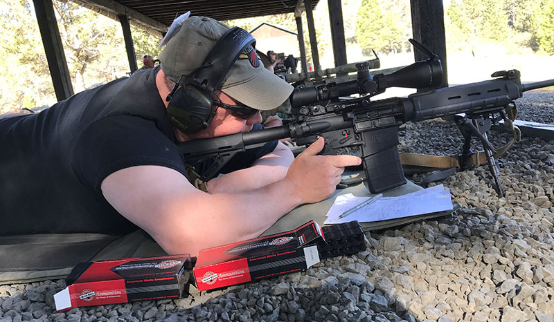 Kyoshi Eric Adams with S&W M&P .308, Leupold 4.5X14 TMR scope, and Black Hills Match ammo.