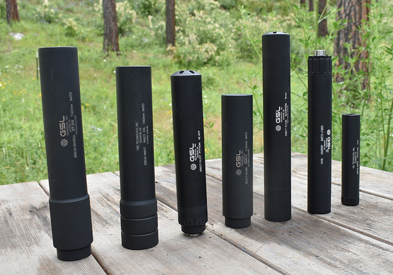 .300 Win Mag to .308, .223/5.56, .45 ACP, 9mm and .22LR.