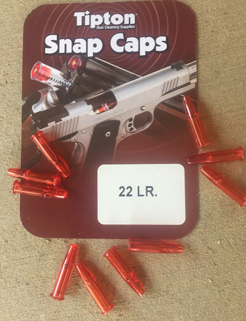 Snap caps are highly recommended for dry fire with rimfire firearms.