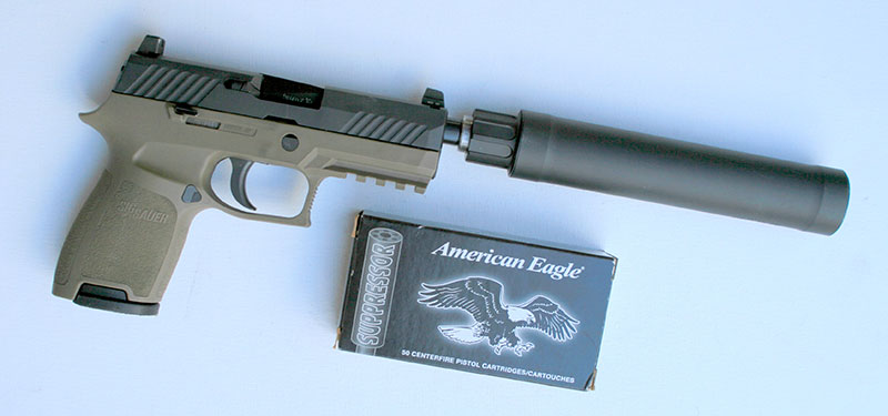 "Only subsonic load used below 147 grains was American Eagle 124-grain ""Suppressor"" round."