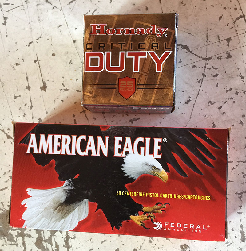 MC1 handled Hornady 135-grain and American Eagle 115-grain FMJ loads with equal aplomb.