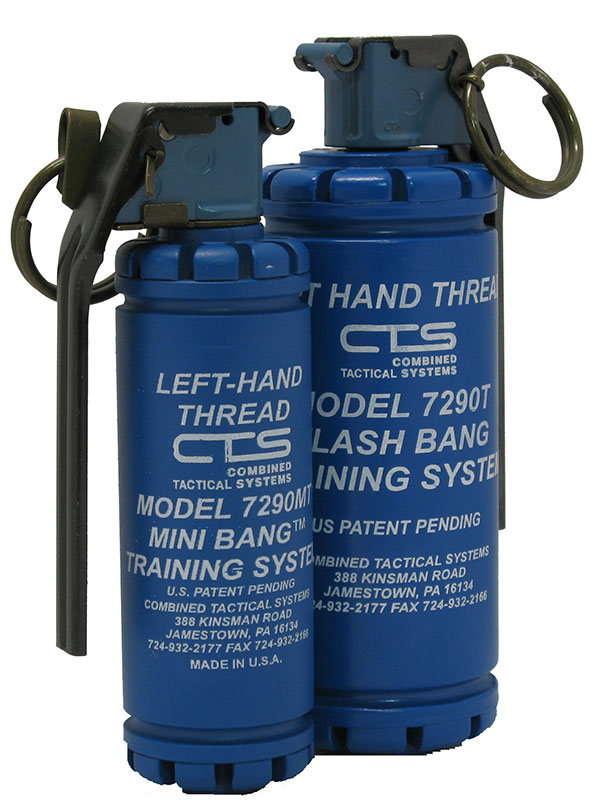 CTS 7290T Flash Bang Training System and 7290MT Mini Bang™ Training System. Photo: Combined Systems