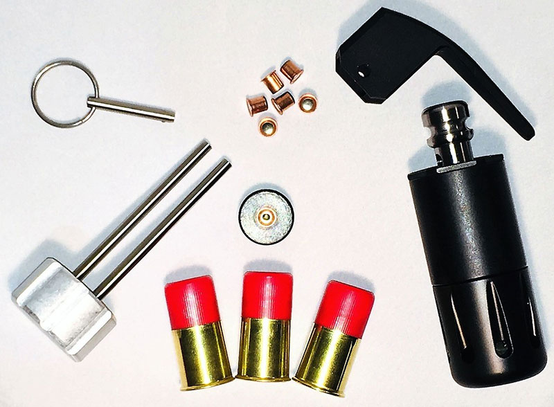 Royal Arms FBG-Mk III Flash Bang Trainer can use either Royal Arms 12-gauge FBC Flash Bang Cartridges or standard 209 shotshell primers. Photo: Royal Arms International