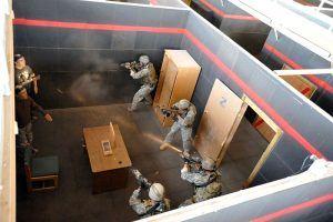 U.S. Army's base element for CQB relies on a four-man team. During the height of fighting in Iraq in the mid-2000s, SF found the four-man stack lacking when faced with real close-quarters combat. Photo: courtesy DOD
