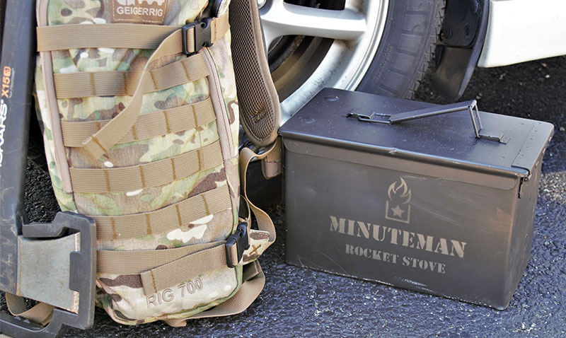 Small size and self-contained design allow Minuteman Rocket Stove to be added into any car's emergency kit. While it may not fit in a day bag, it certainly will be useful during a blizzard or when broken down far away from help.