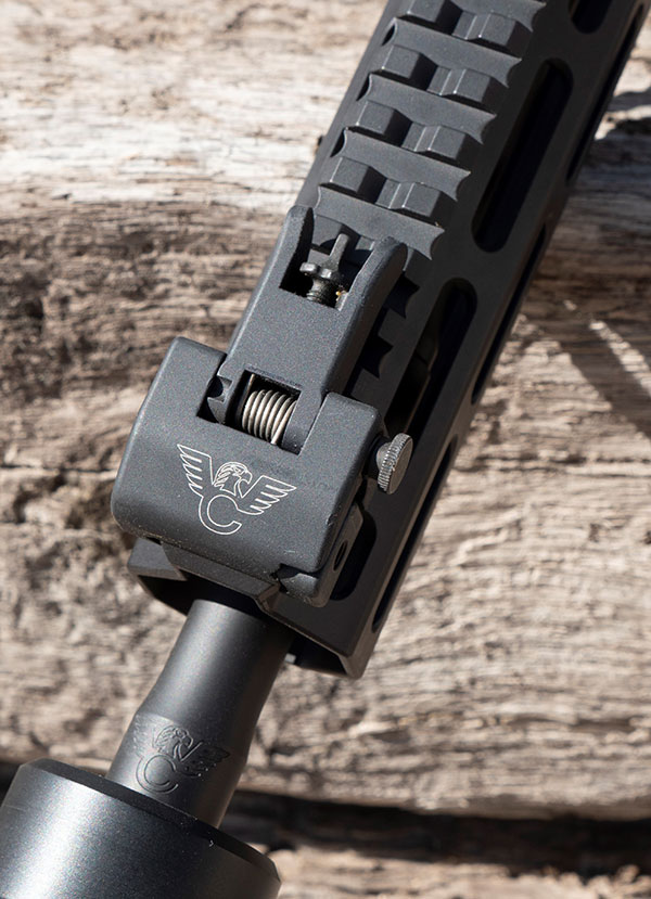 Wilson Combat back-up iron sights are light, strong, easy to use, and lock into place when necessary.
