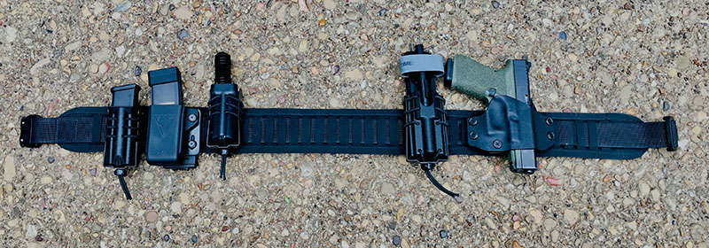 Author's initial set-up uses both Wilder Tactical and conventional pouches.