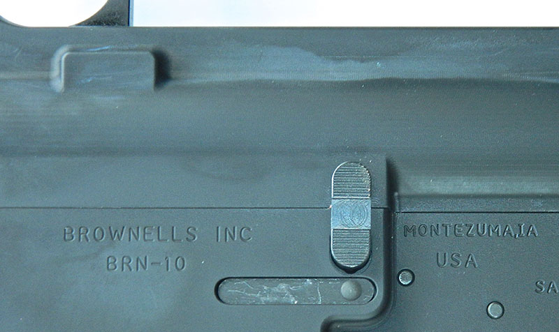 Comprised of a one-piece double paddle, bolt hold open/release is different than that seen on current rifles and carbines.