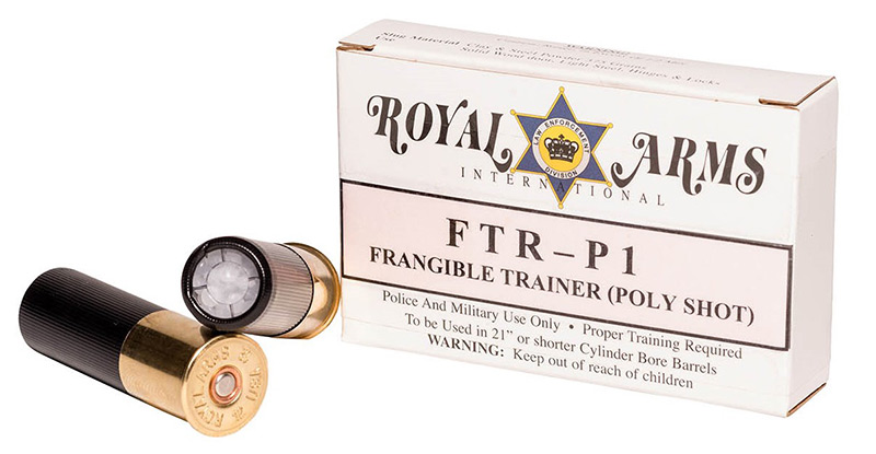 Royal Arms FTRP-1 Frangible Training Round (Poly Shot) allows for effective low-cost training. Photo: Royal Arms International